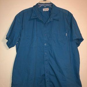 Carhartt Blue Button up Mens size 2XL